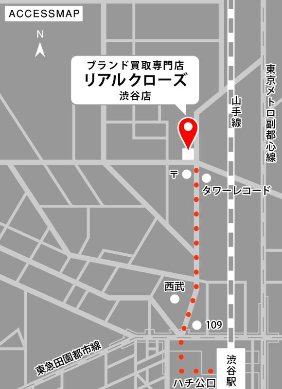 リアルクローズ渋谷店イラストマップ