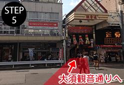 大須観音通りを直進