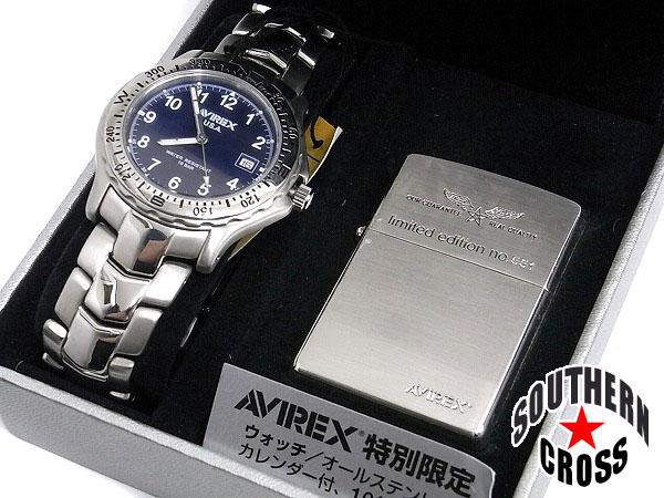 アヴィレックス ジッポーライター & 腕時計