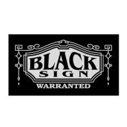 black-sign